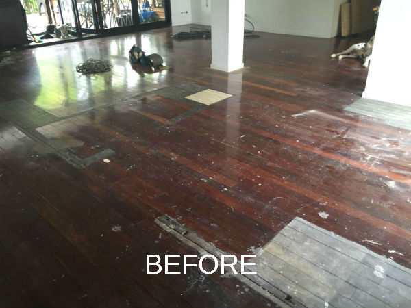 Wooden Floor Sanding before