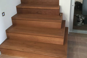 Timber Stairs - sand and polish