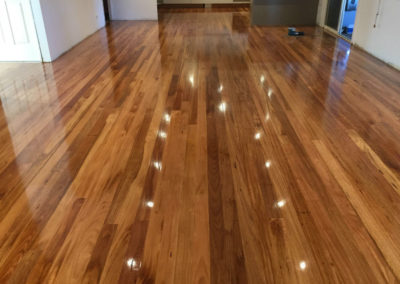 Timber Floors with Gloss Polyurethane finish